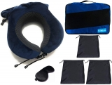 Clothes Storage Bags with Neck Pillow 6 Pcs Value Packing Cube Drawstring Bag Storage
