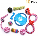 Dog Treats Chew Toys, Interactive Training Long Set for Small to Medium Pets 10 Pack