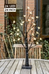 EAMBRITE LED Cherry Blossom Tree Flower Tree Lights Battery Operated Decorative