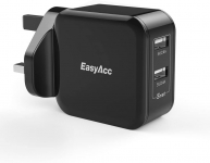 EasyAcc USB Wall Charger 2-Port Mains Charger 24W Travel Charger