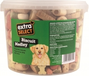 Extra Select Biscuit Medley Dog Treats Tub, 1 Litre