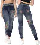 Gimbles® New Women's Floral Printed Stretch Fit Jegging