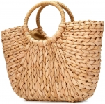 JOSEKO Womens Straw Straw Shoulder Bag for Beach Travel and Everyday