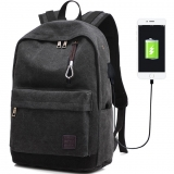 Laptop Backpack for Men Back Pack with USB Charging Port