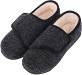 LongBay Women's Wide Fit Memory Foam Diabetic Slippers Comfy Cozy