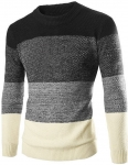 Men Set-in Classic Knitwear Long Sleeve Jumper Knitted Pullover