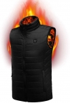 New USB Rechargeable Heated Vest Washable Fleece Warm Winter Gilet Coat Charging Heated