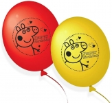 Peppa Pig 203790 Balloons Party Decorations Red and Yellow (Pack of 10)