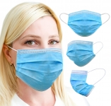 Protection Mask 3-Ply – Pack of (10) – UK Stock, Blue
