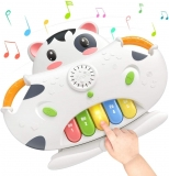 Sound Toy 2-in-1 Piano Musical Toys & Shape Sorter Blocks Toys, Baby Early Educational Development