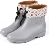 Women's Short Rain Boots Anti-Slip Waterproof Ankle booties Short Wellies