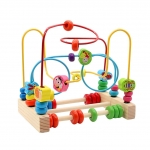 Wooden Beads Maze Roller Coaster Abacus Game